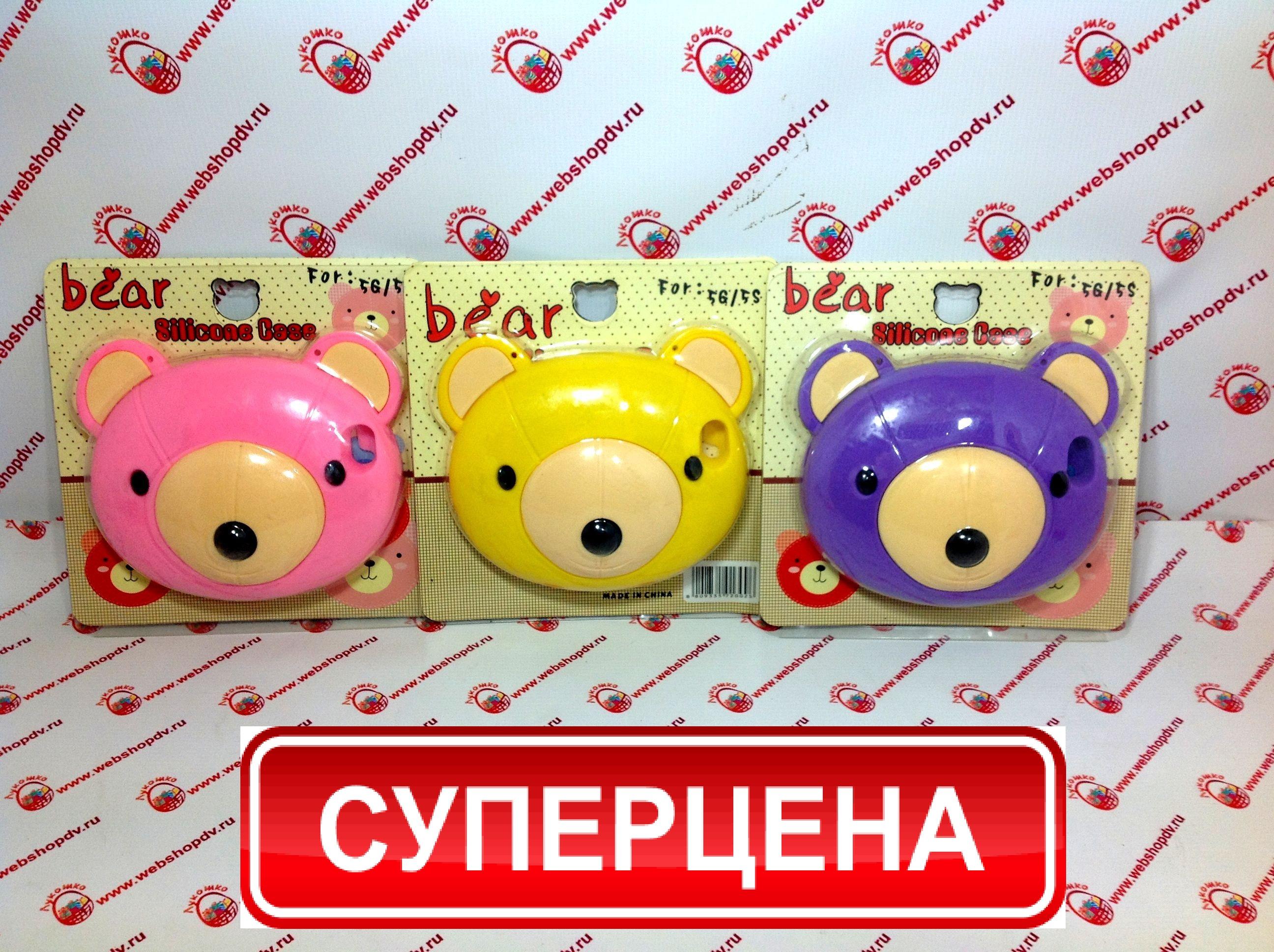 Чехол-сумочка Bear для iPhone 5/5s (цвета в ассортименте)