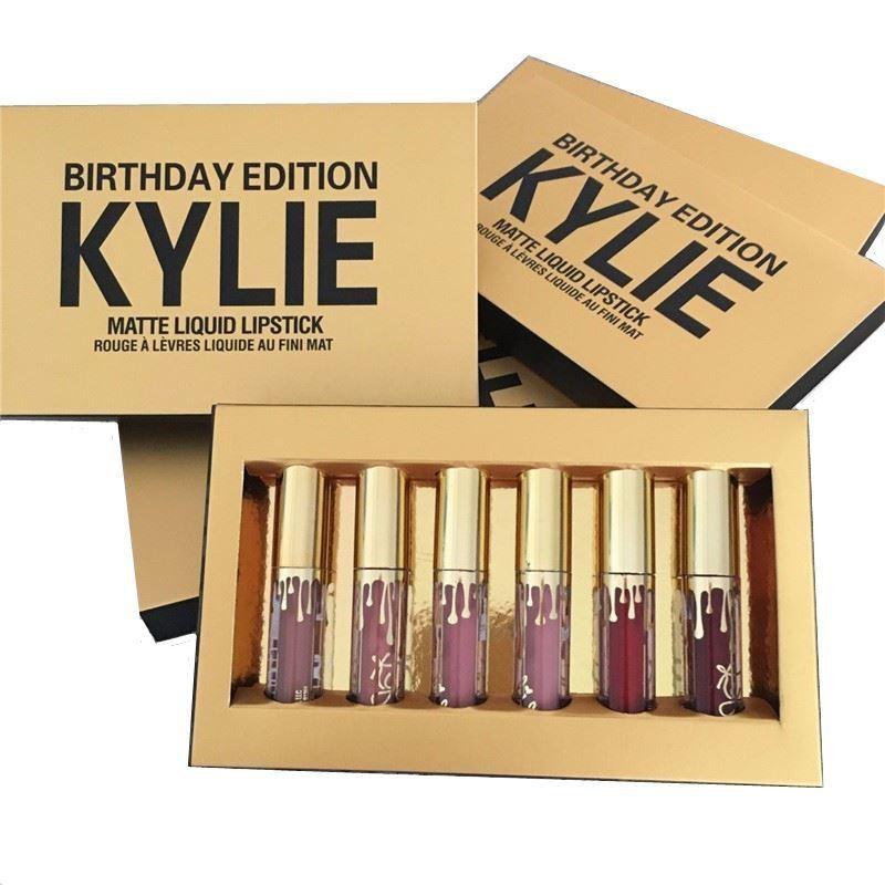Набор матовых губных помад Kylie Birthday Edition (6 шт.)