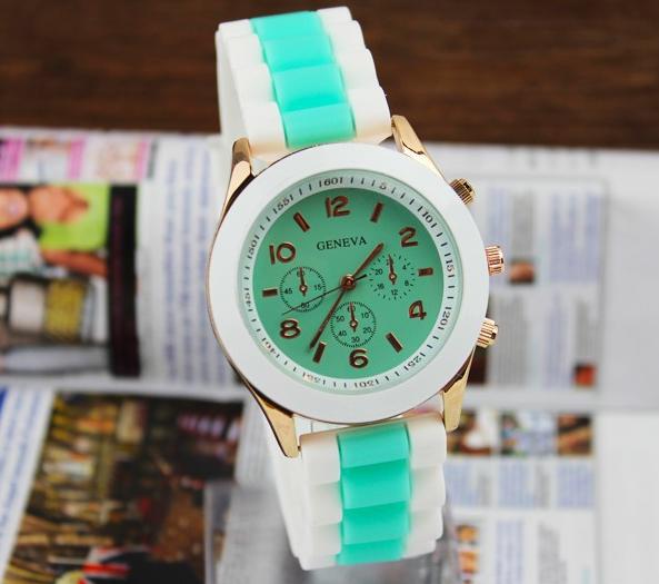 Часы наручные женские Geneva двухцветные