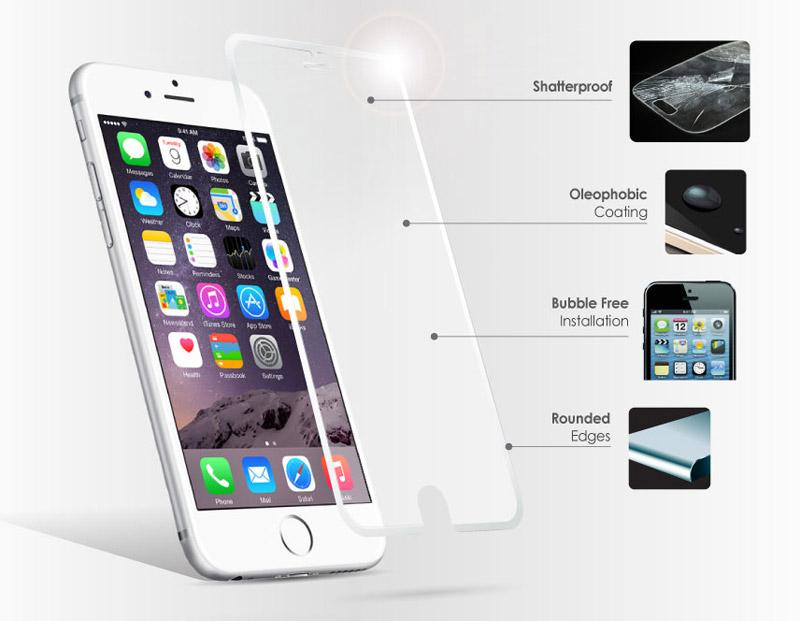 Противоударная плёнка-стекло для iPhone 6+