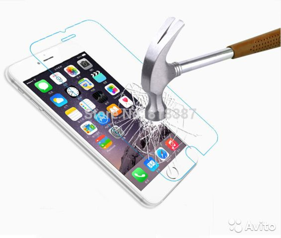 Противоударная плёнка-стекло для iPhone 5/5s