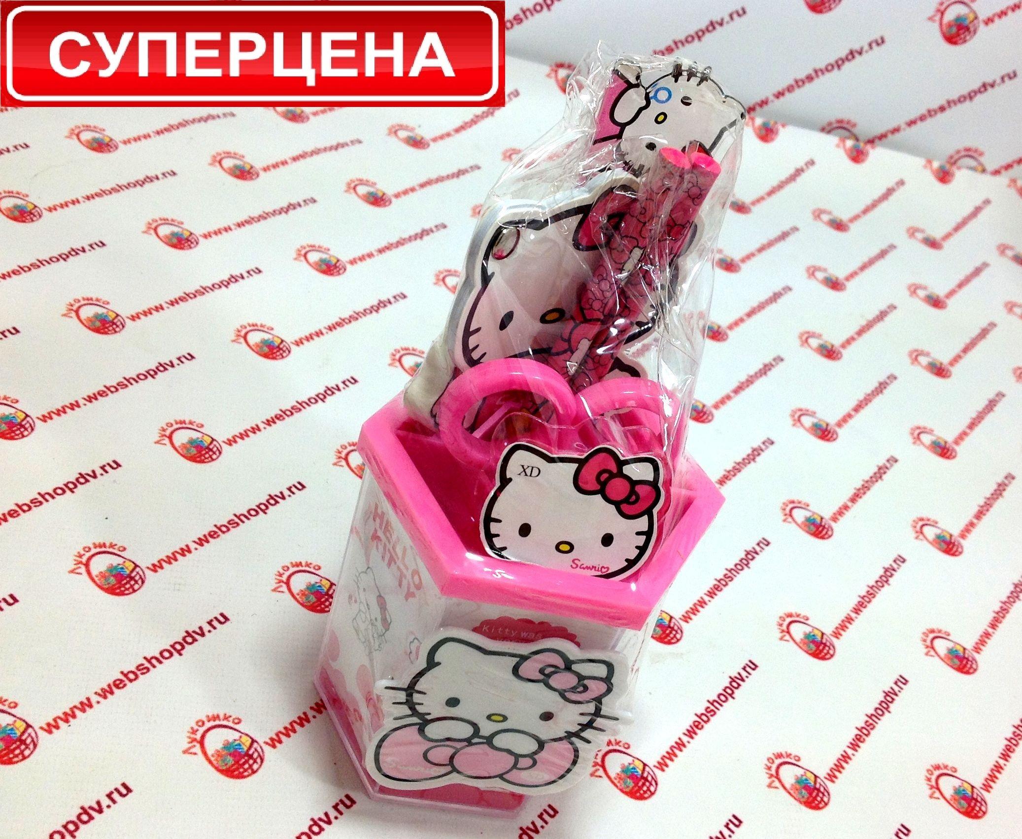 Набор канцелярский в стаканчике «Hello Kitty» в подарочной упаковке