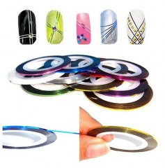 Free-shipping-15Colors-for-choose-50-Rolls-20m-length-Striping-Tape-Metallic-Yarn-Line-Nail-Art7