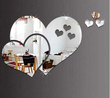Наклейка зеркальная Сердце