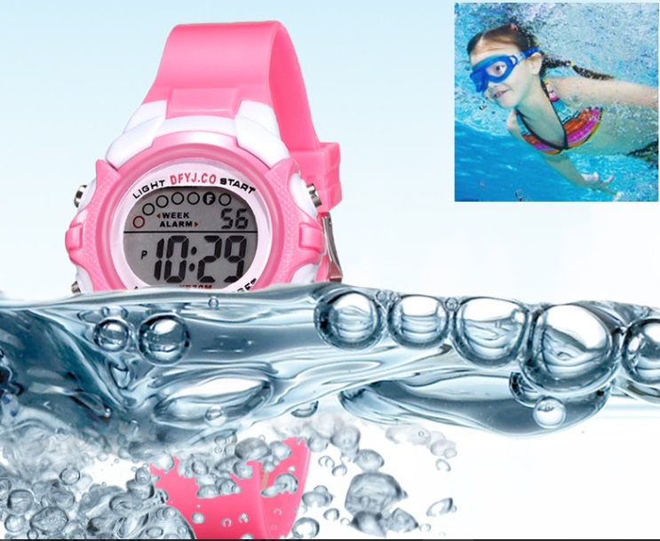 Часы детские наручные водонепроницаемые (без упаковки)