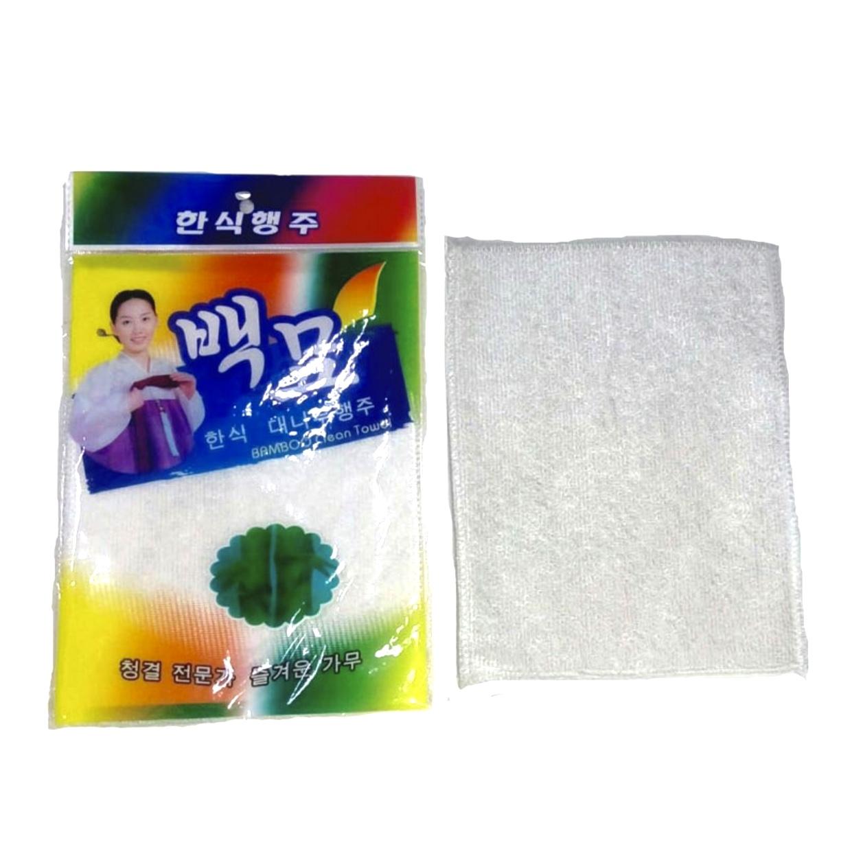 Бамбуковая салфетка для мытья посуды