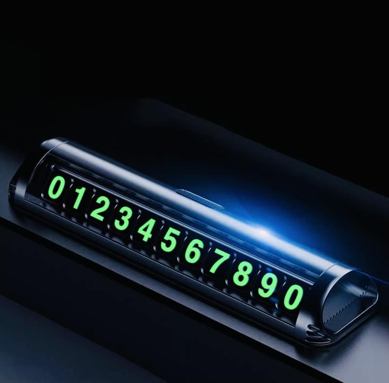 Парковочная табличка для номера телефона люминесцентная