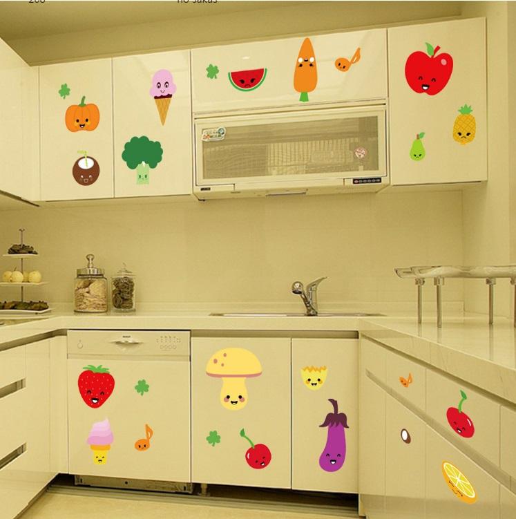 Стикеры для кухни «Весёлые продукты»